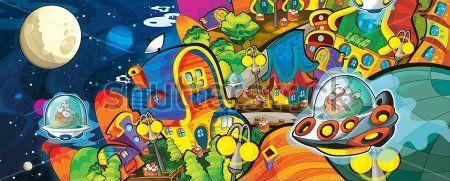 Каталог Картина космос: Детские | Wall-Style