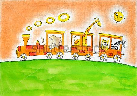 Каталог Картина паравозик: Детские   Wall-Style