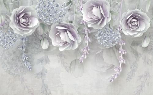 Каталог Фотообои 3д розы свисающие с ветвями:    Wall-Style