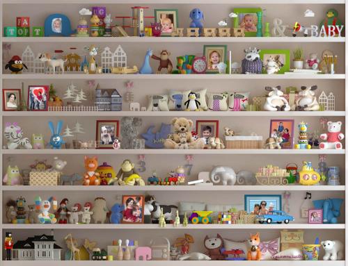 Каталог Картина полки с игрушками: Детские   Wall-Style