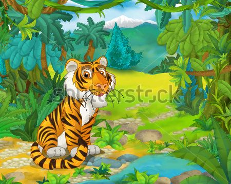 Каталог Картина тигр: Детские   Wall-Style