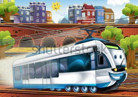 Каталог Картина поезд: Детские   Wall-Style