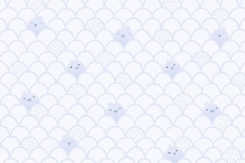 Каталог Картина голубой паттерн с птенцами: Детские | Wall-Style