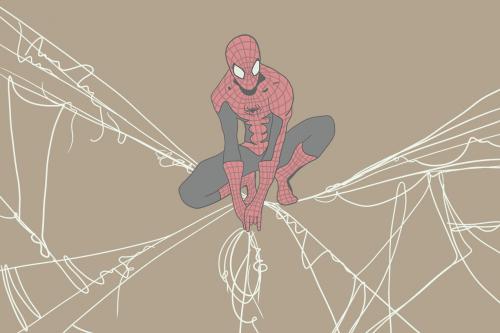 Каталог Фотообои человек паук в паутине:    Wall-Style