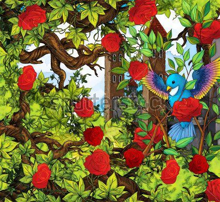 Каталог Картина птица в саду: Детские | Wall-Style