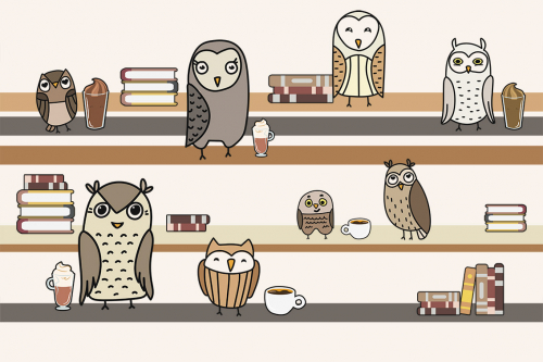 Каталог Картина совы на полках: Детские   Wall-Style