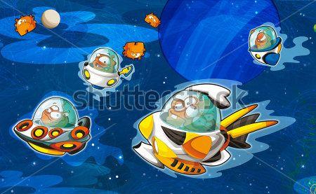 Каталог Картина космические корабли: Детские   Wall-Style