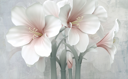 Каталог Фотообои нежные 3d лилии:  | Wall-Style