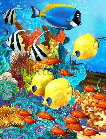 Каталог Фотообои рыбки разноцветные:  | Wall-Style