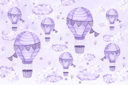 Каталог Картина фиолетовые воздушные шары: Детские   Wall-Style