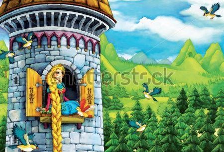 Каталог Фотообои принцесса в башне:  | Wall-Style