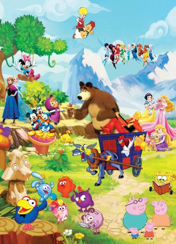 Каталог Картина герои на поляне: Детские | Wall-Style