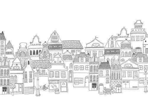 Каталог Картина домики рисованные: Детские | Wall-Style