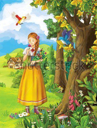 Каталог Картина принцесса: Детские   Wall-Style