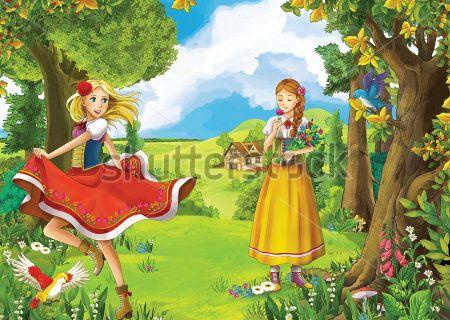 Каталог Картина девочки в лесу: Детские   Wall-Style