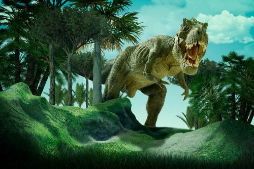 Каталог Картина тираннозавр в зарослях: Детские | Wall-Style