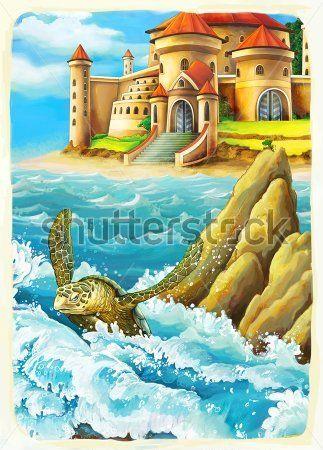 Каталог Картина замок у моря: Детские   Wall-Style