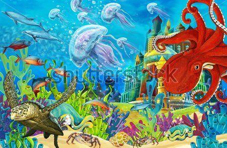 Каталог Картина жители моря: Детские   Wall-Style