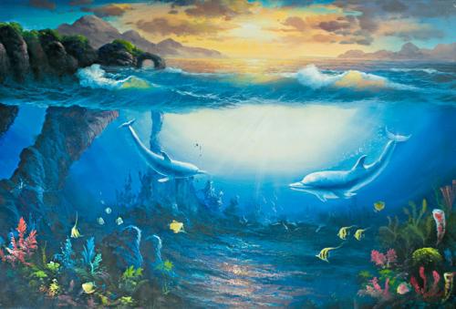 Каталог Фотообои дельфины:    Wall-Style