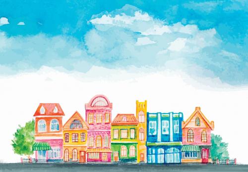 Каталог Картина улочка: Детские   Wall-Style