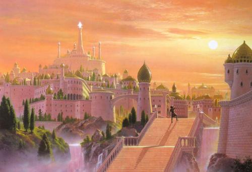 Каталог Картина сказочный город: Детские   Wall-Style
