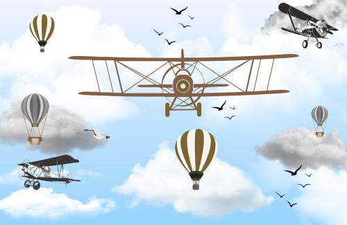 Каталог Картина самолеты в небе: Детские | Wall-Style