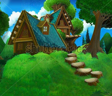 Каталог Картина домик в лесу: Детские   Wall-Style