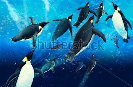 Каталог Картина пингвины: Детские | Wall-Style