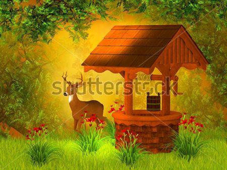 Каталог Картина сказочный лес: Детские | Wall-Style