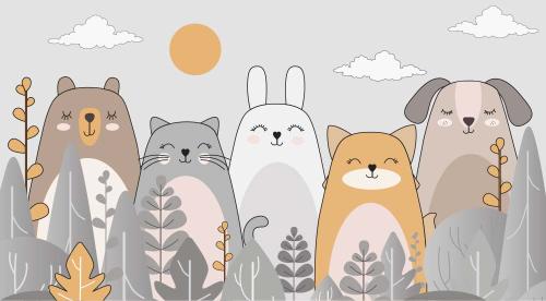 Каталог Картина милые животные : Детские   Wall-Style