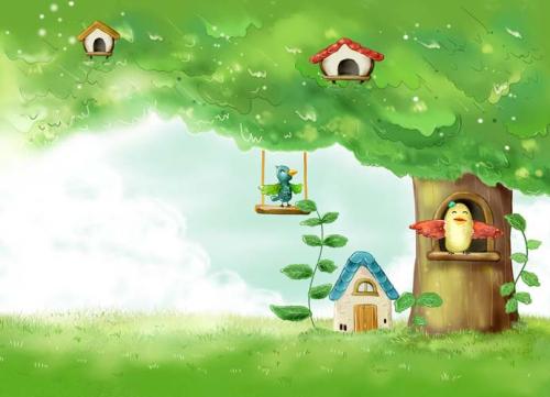 Каталог Фотообои птички на дереве:    Wall-Style
