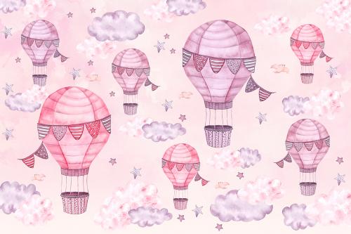 Каталог Картина розовые воздушные шары: Детские   Wall-Style
