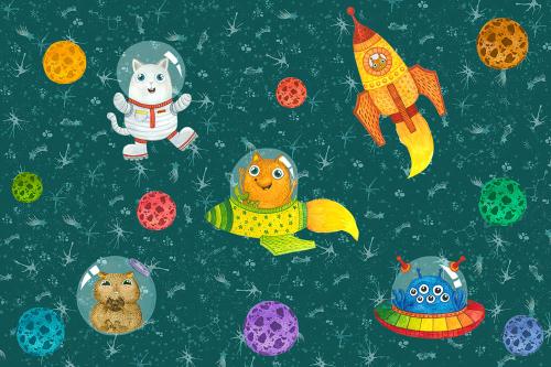 Каталог Картина животные на фоне звезд: Детские | Wall-Style
