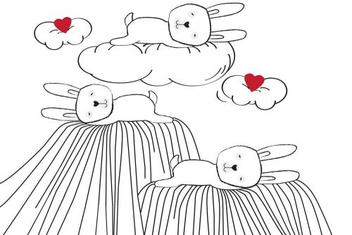 Каталог Картина зайки на облаках: Детские | Wall-Style