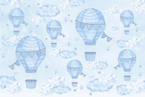 Каталог Картина голубые воздушные шары: Детские | Wall-Style