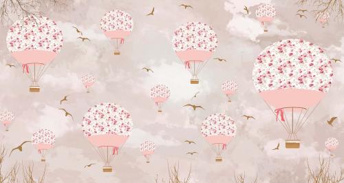 Каталог Картина розовые воздушные шары: Детские | Wall-Style