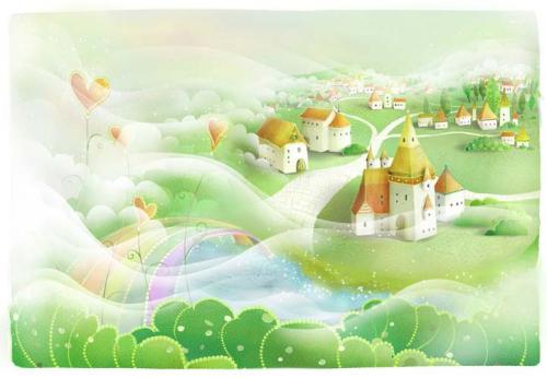 Каталог Картина домики: Детские   Wall-Style