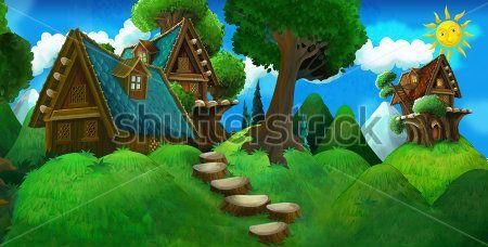 Каталог Картина домик в лесу: Детские | Wall-Style