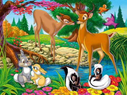 Каталог Картина бэмби: Детские   Wall-Style