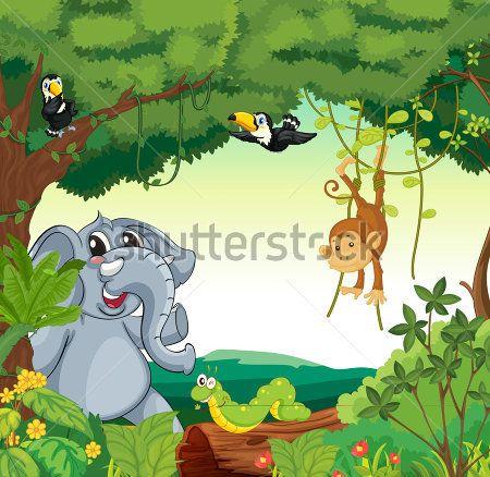 Каталог Картина звери в лесу: Детские | Wall-Style