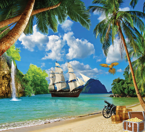 Каталог Фотообои остров пиратов:  | Wall-Style