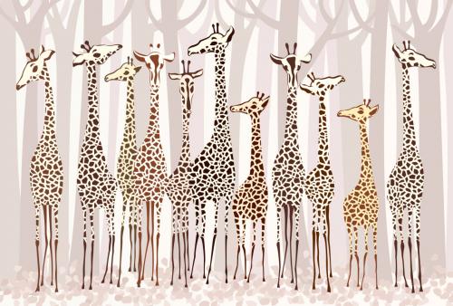 Каталог Картина жирафы в лесу: Детские   Wall-Style