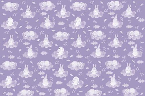 Каталог Фотообои зайки на фиолетовых облаках:  | Wall-Style