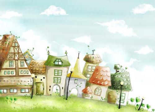 Каталог Картина домики: Детские | Wall-Style