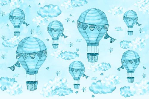Каталог Картина синие воздушные шары: Детские | Wall-Style