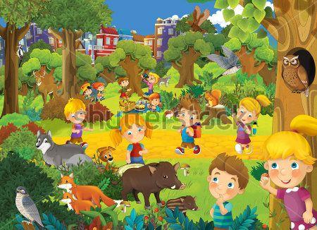 Каталог Картина дети в лесу: Детские | Wall-Style