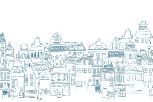 Каталог Картина городской пейзаж: Детские | Wall-Style