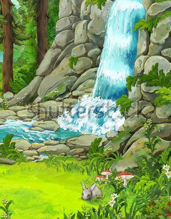 Каталог Картина водопад: Детские | Wall-Style