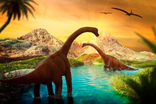 Каталог Картина долина динозавров: Детские   Wall-Style