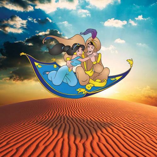 Каталог Картина алладин на ковре: Детские   Wall-Style